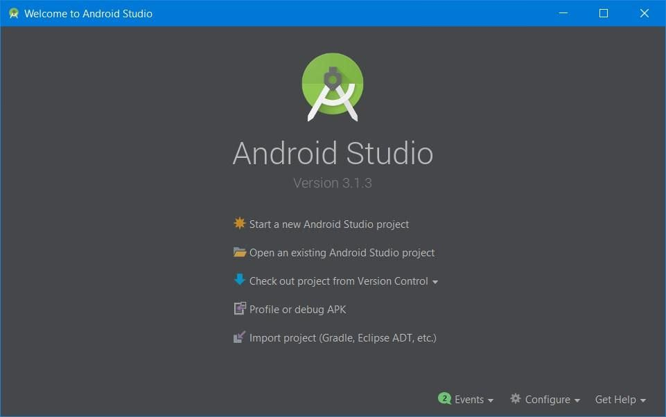 Open Android Studio