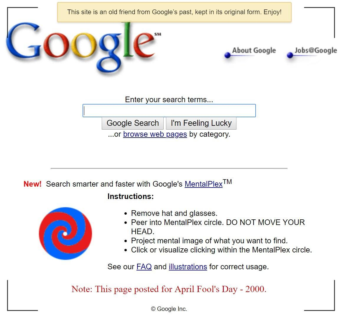 Google's first April Fools' Day hoax