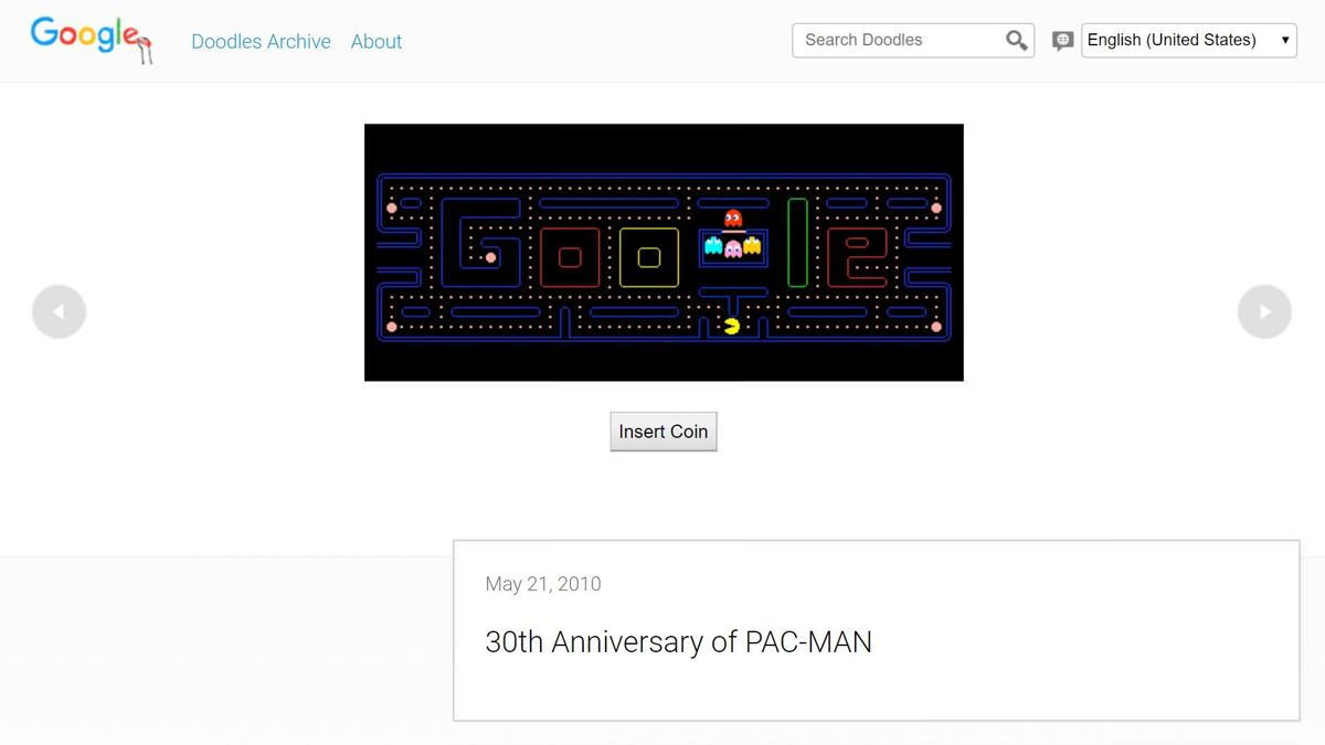 Google's first playable doodle