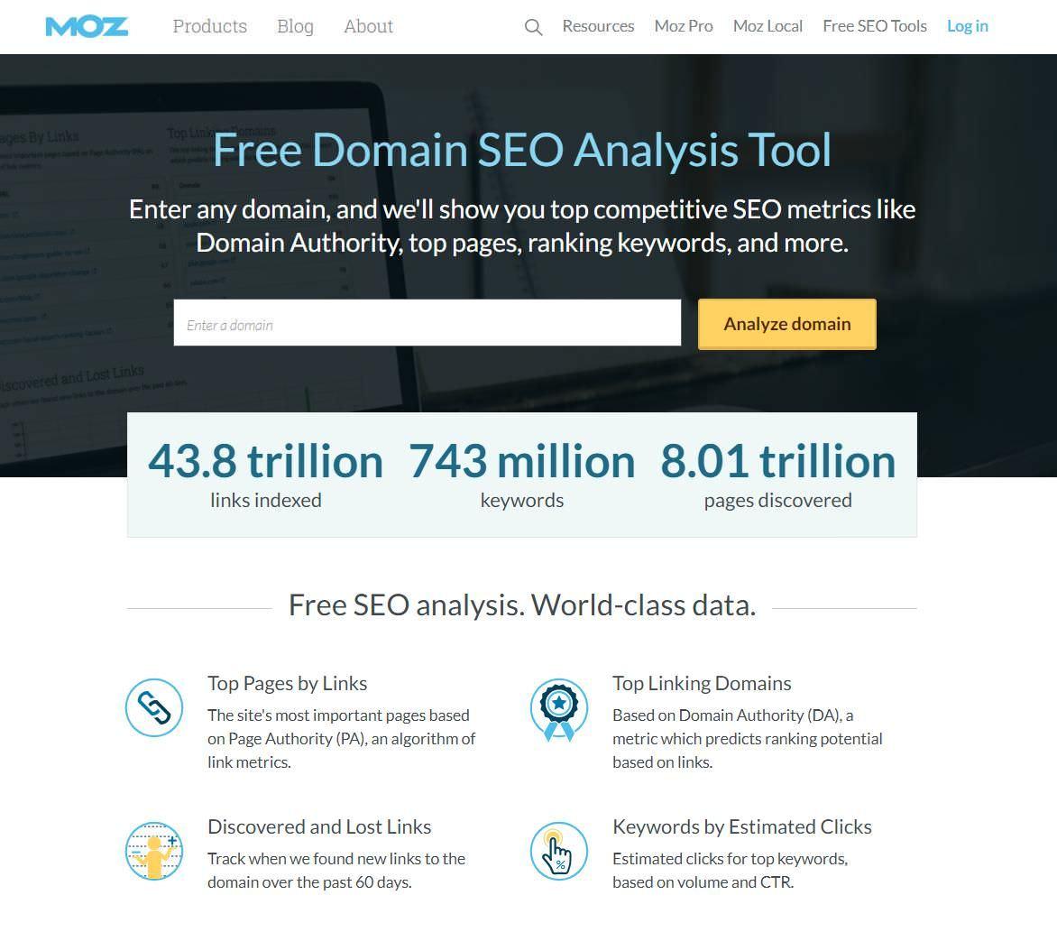 Free Domain Analysis helps do a free SEO analysis