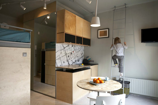 237sqft Micro Apartment Kitchen