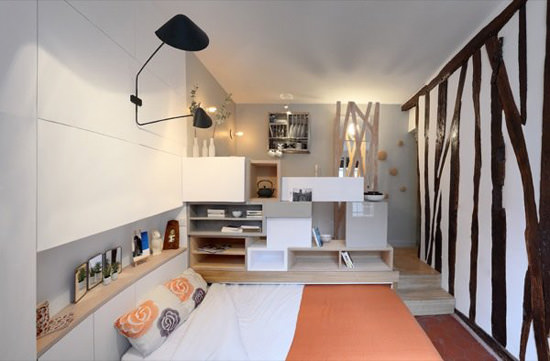 Mini Studio Apartment Bed