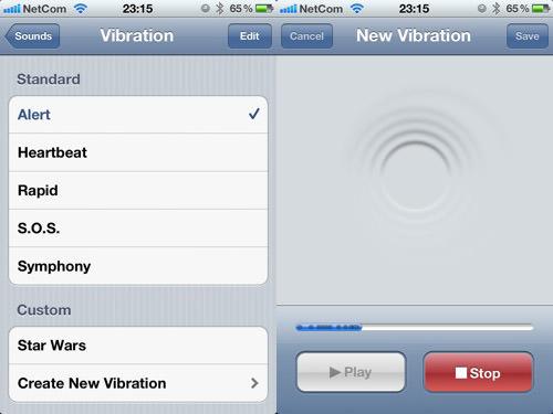 custom vibration