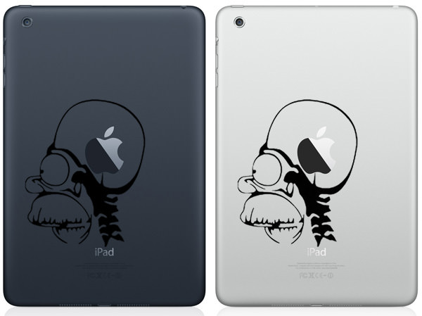 Homer Apple Brain iPad Mini Decal