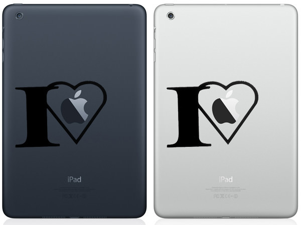 I Love Apple iPad Mini Decal