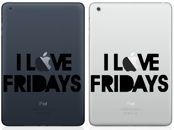 I Love Fridays iPad Mini Decal