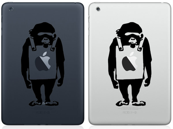 Monkey Wearing Signboard iPad Mini Decal
