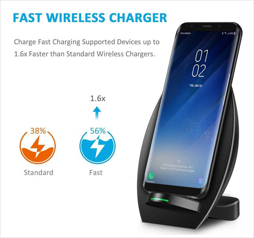 CHOETECH Qi Wireless Charger Stand