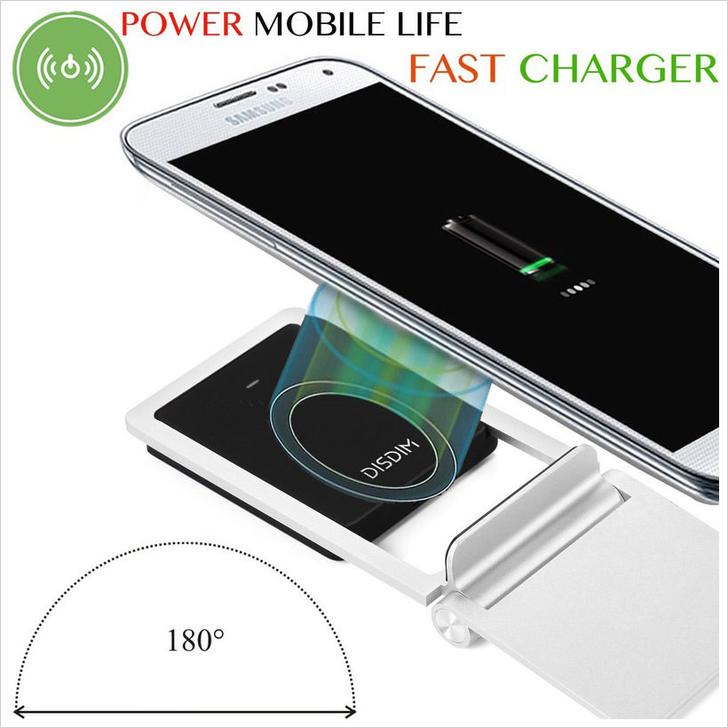 DISDIM 2 in 1 Magnetic Qi Wireless Charging Pad