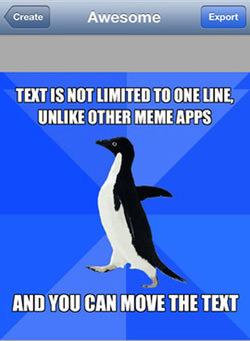 Meme_Creator make your own meme! 20 meme making iphone apps hongkiat