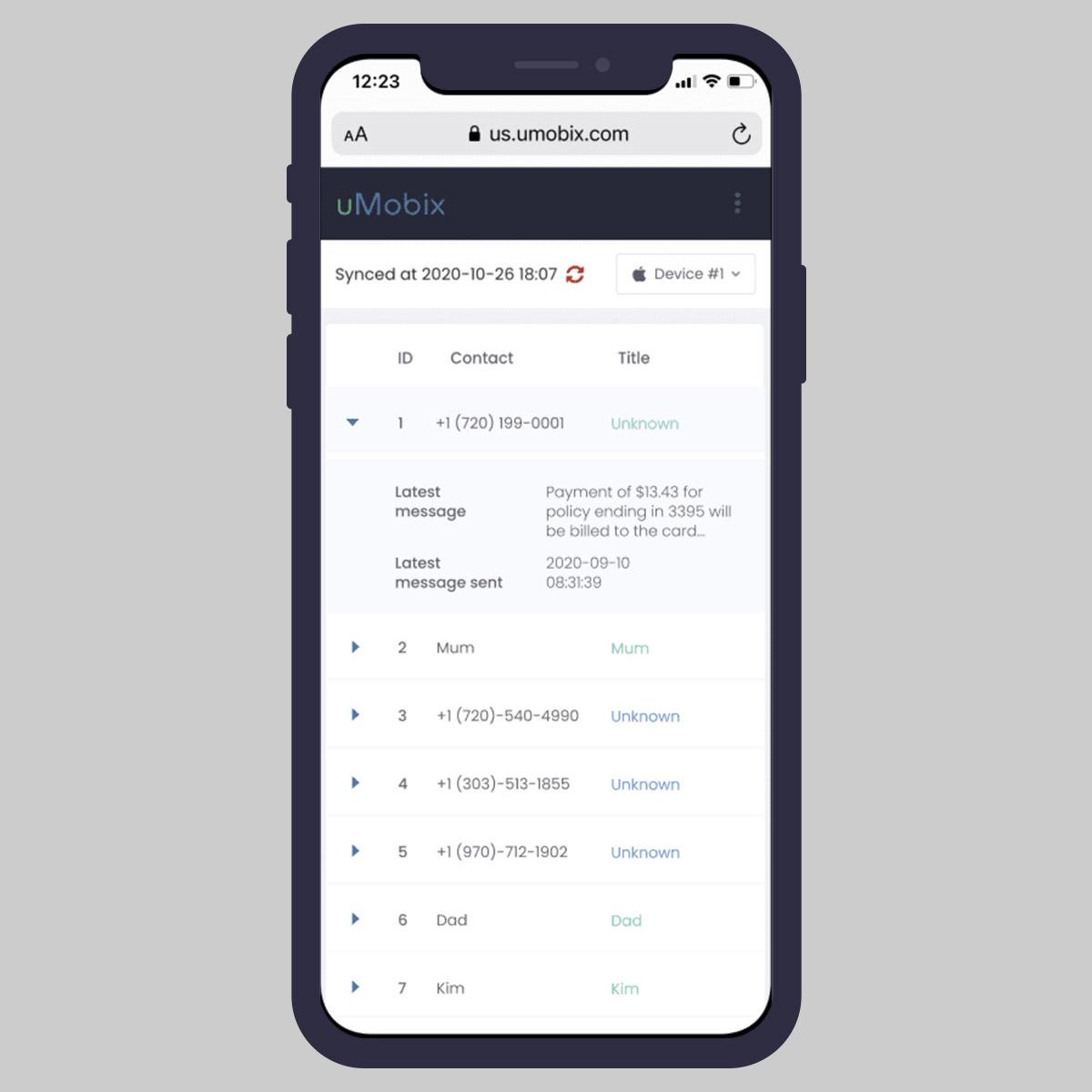 uMobix iPhone Tracker