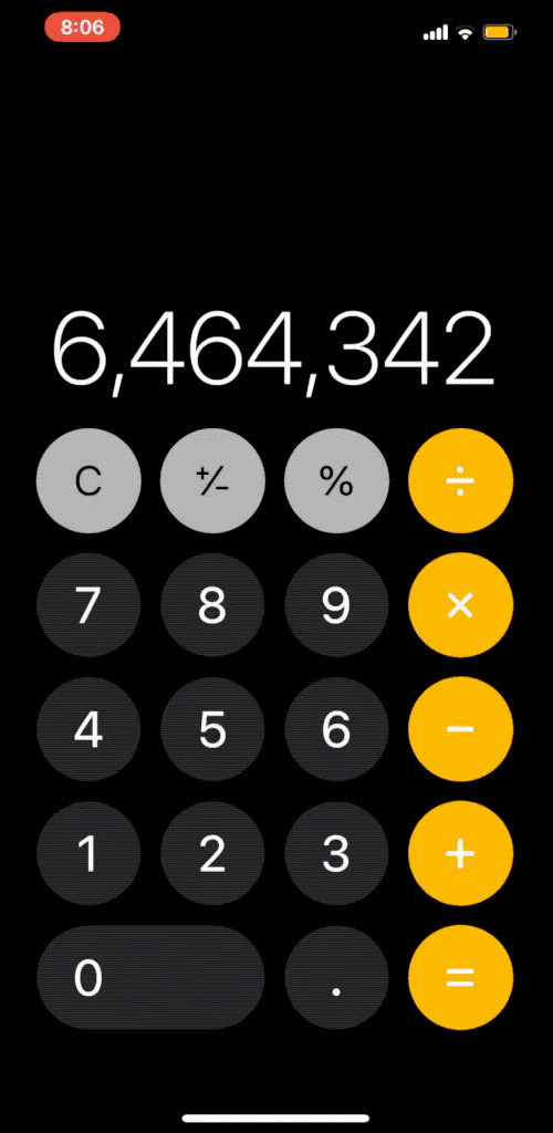 calculator remove last digit