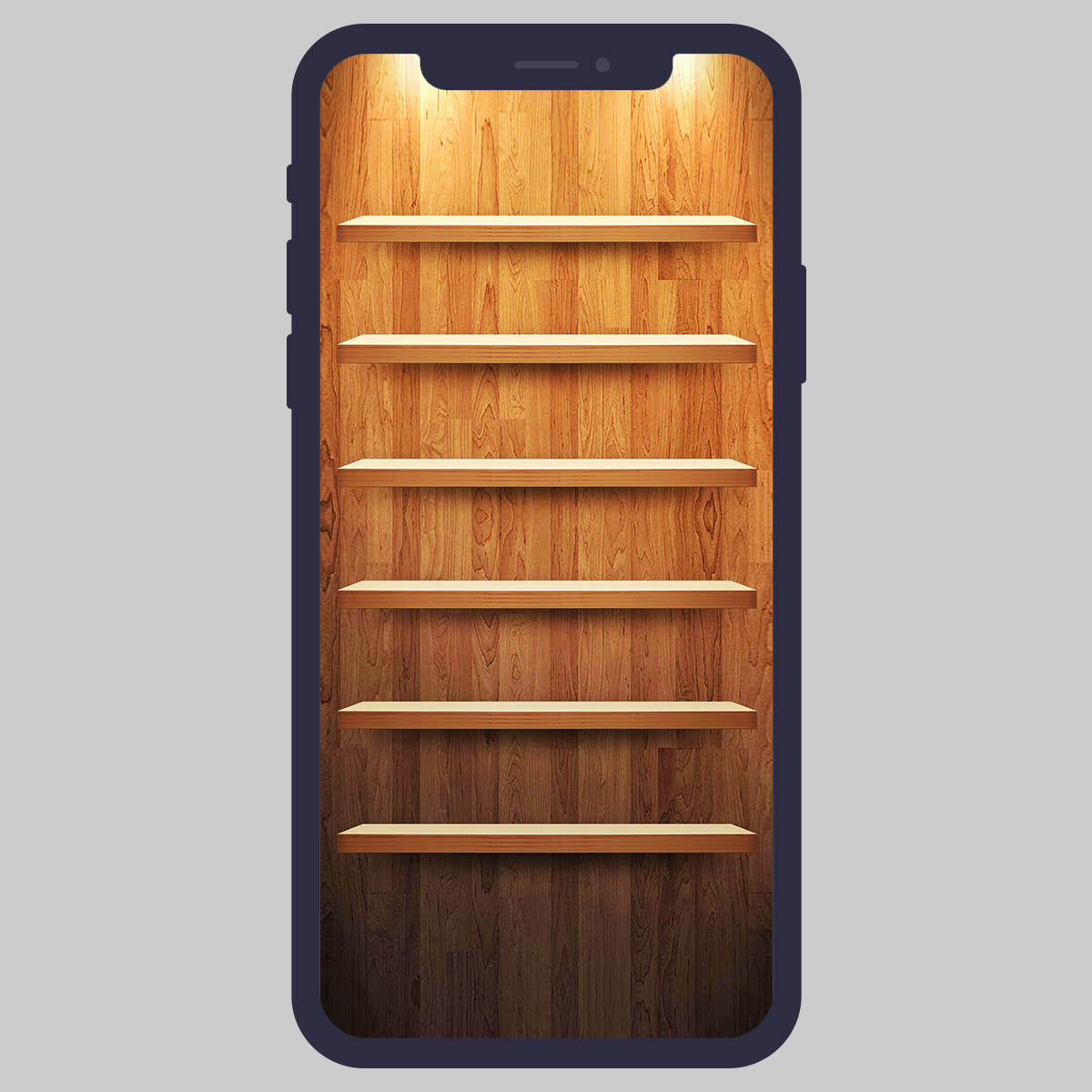 iphone shelves wallpaper