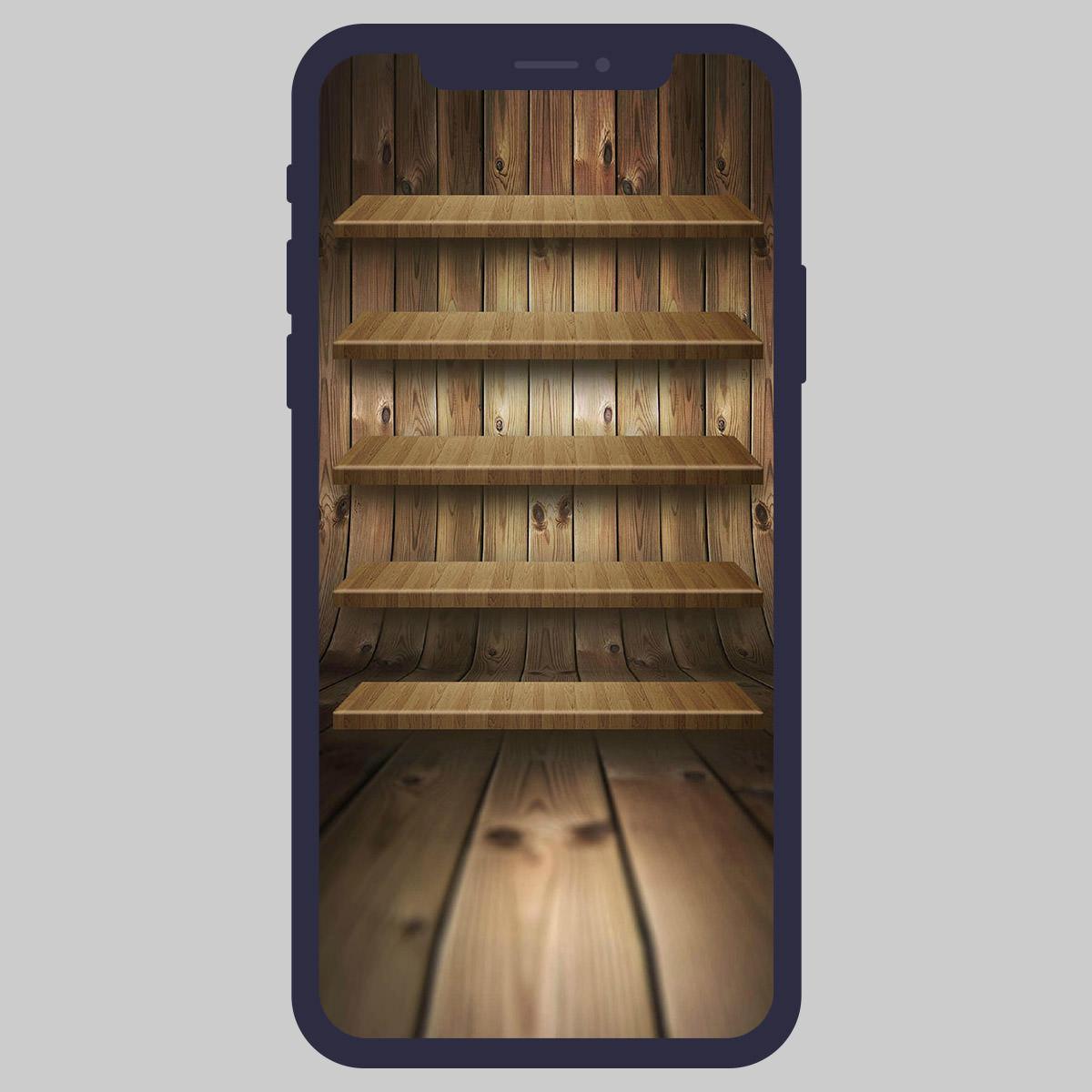 iphone shelves wallpaper