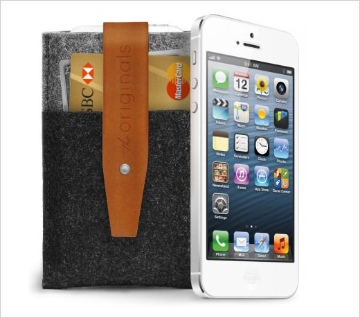 Mujjo iPhone 5 Wallet Brown