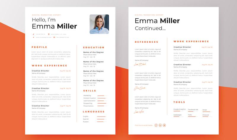 two-page-resume