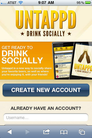 Untappd social network drinking