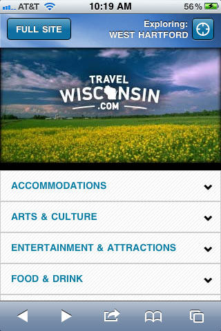 Travel Wisconsin jQuery Mobile template