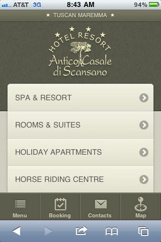 Tuscan Maremma mobile site
