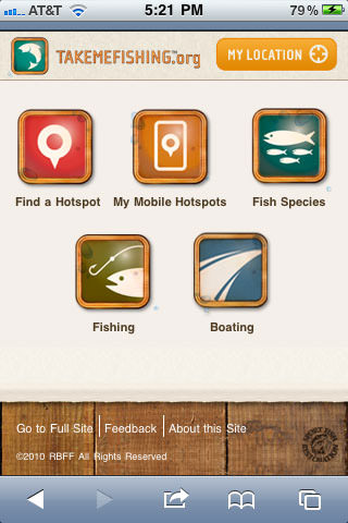 Take Me Fishing mobile site