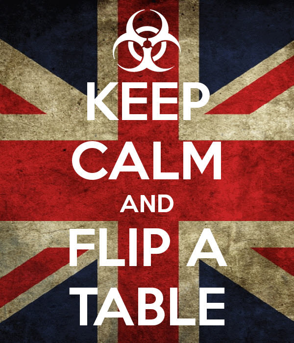 keep calm and flip a table