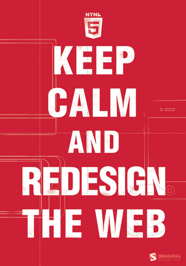 keep calm and redesign the web