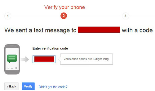 google plus verify phone