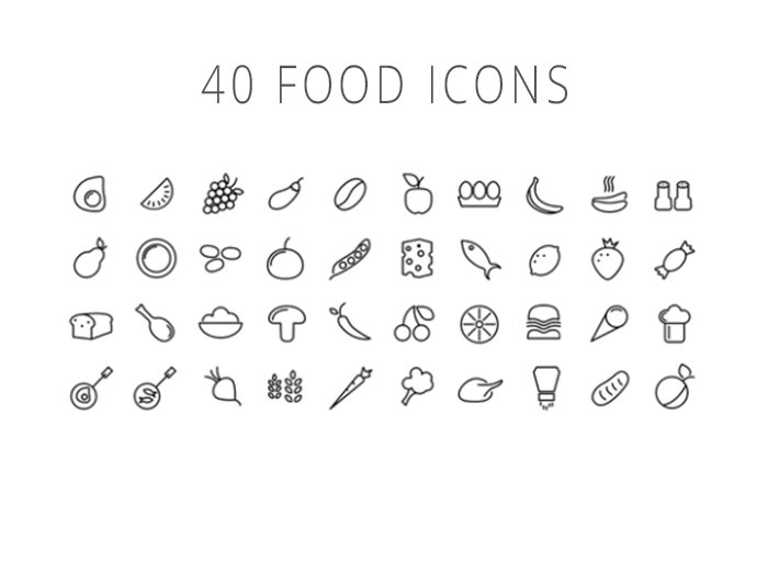 40foodicons