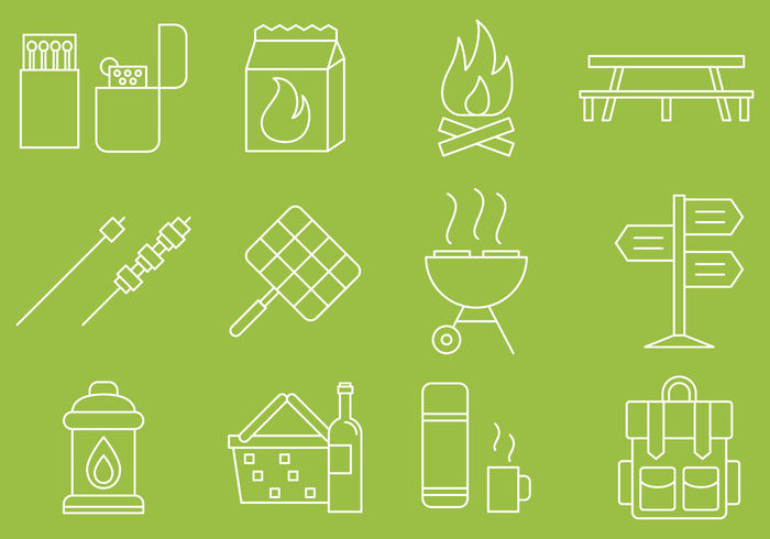 picnic-line-icons