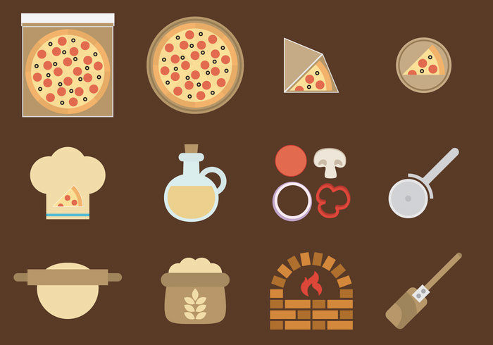 vector-pizza-icons