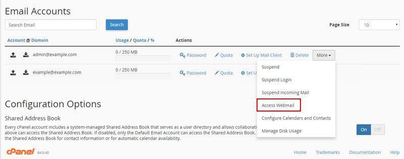 Access webmail