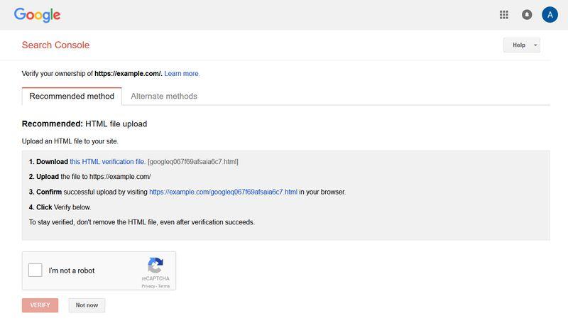 Google Webmasters Verify Your Website