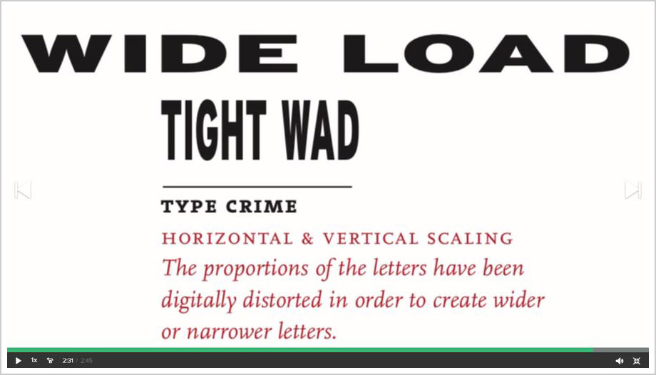 Typography That Works, type crime