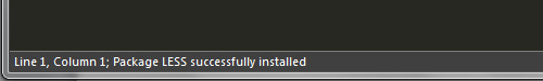 Package LESS successfully installed