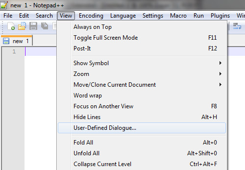 View - User-Defined Dialogue