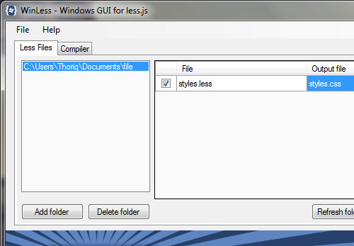 Windows GUI for less.js
