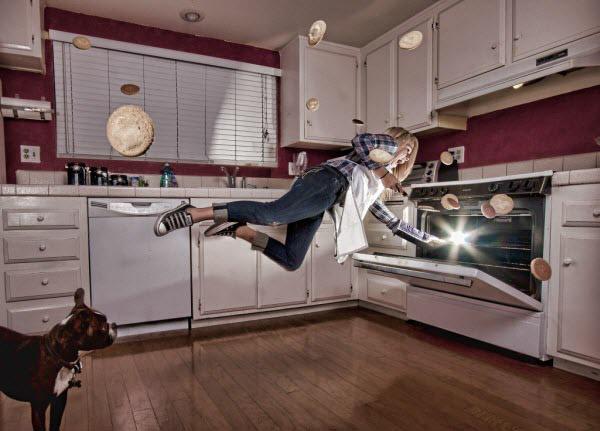 levitating baker
