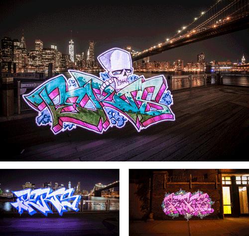 Pixelstick Graffiti