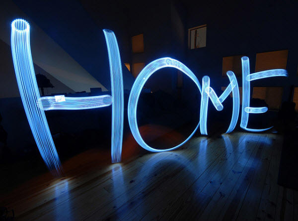 home is where the light is
