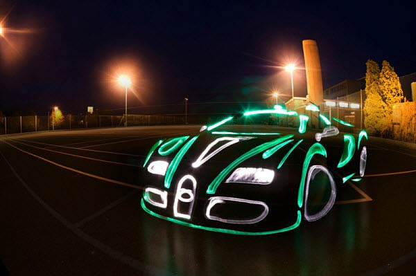 light graffiti car