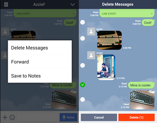 Delete, Forward or Save Messages to Note