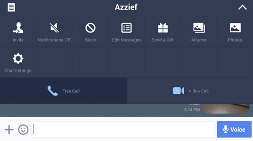 Start A Free Call To Any Line User