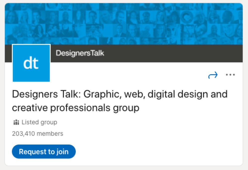 Designers Talk LinkedIn Group for designers and developers