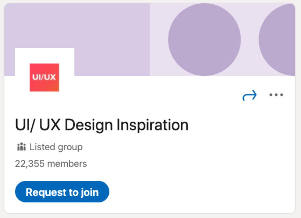 UI/ UX Design Inspiration LinkedIn Group for designers and developers