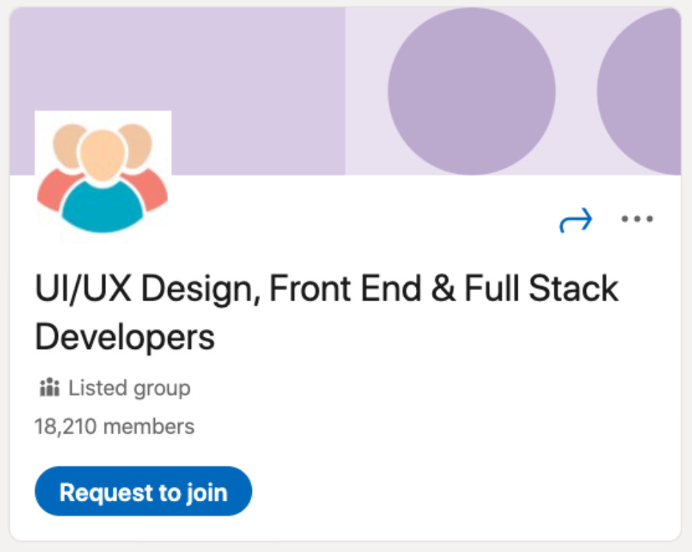 UI/UX Design, Front End and Full Stack Developers LinkedIn Group for designers and developers