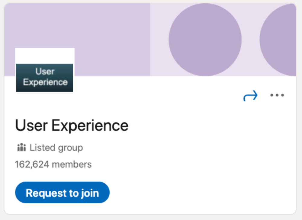 User Experience LinkedIn Group for designers and developers