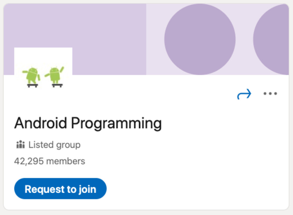 Android Programming LinkedIn Group for designers and developers