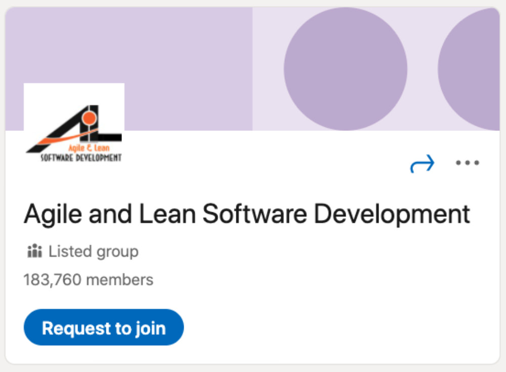 Agile and Lean Software Development LinkedIn Group for designers and developers