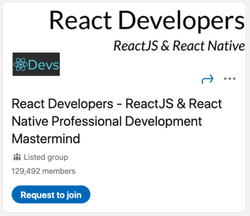 React Developers LinkedIn Group for designers and developers