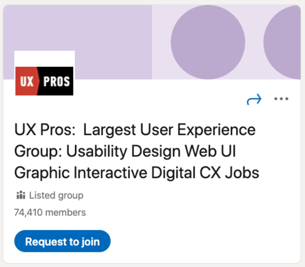 UX Pros LinkedIn Group for designers and developers